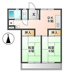 愛知県名古屋市西区名西2丁目の賃貸マンションの間取り