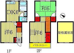 [一戸建] 千葉県柏市豊住5 の賃貸【/】の間取り