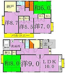 [一戸建] 千葉県柏市柏5丁目 の賃貸【/】の間取り