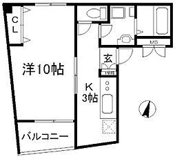 天竺園ビル[4階]の間取り