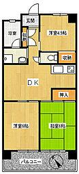 喜秋マンション[3階]の間取り