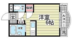 カサイマンション[202号室]の間取り