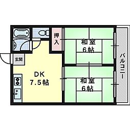 レジデンス西田[1階]の間取り