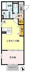 モナリエカワムラ[106号室号室]の間取り