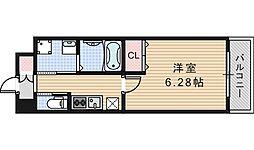 クローバー・グランデ昭和町[201号室]の間取り