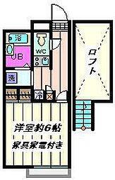 埼玉県さいたま市岩槻区南平野2丁目の賃貸マンションの間取り