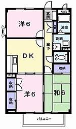 兵庫県加古川市加古川町稲屋の賃貸マンションの間取り