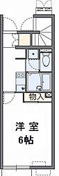 千葉県我孫子市下ケ戸の賃貸アパートの間取り