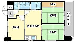 ロイヤルコーポ野田[1003号室]の間取り