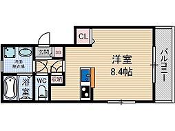 ボルベール2[3階]の間取り
