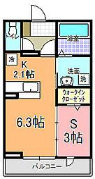 仮)元吉田町アパート[102号室]の間取り