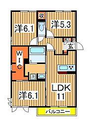 仮)D-roomセントラルパーク[305号室]の間取り