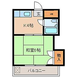 TOハイツI[205号室]の間取り
