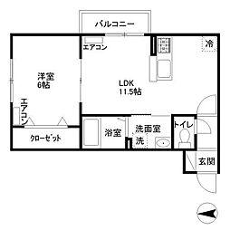 ペルル・コリエ(V号室)[2階]の間取り