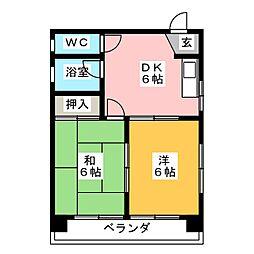 羽衣ビル[4階]の間取り