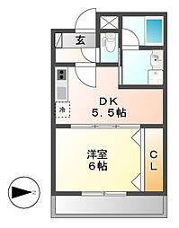 鶴舞北ビル[4階]の間取り