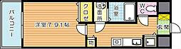 グランドツイン黒崎 B棟[9階]の間取り