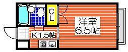 プレアール砂道町[4階]の間取り