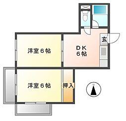 明治第2ビル[5階]の間取り