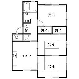 コーポワタナベI[1階]の間取り