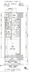 エスプレイス神戸ウエストゲート[7階]の間取り