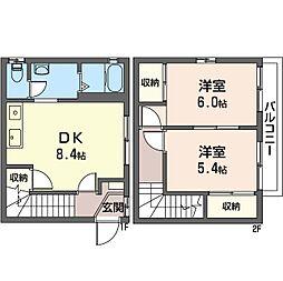 メゾン上本郷[1階]の間取り