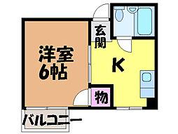 愛媛県松山市歩行町1丁目の賃貸マンションの間取り