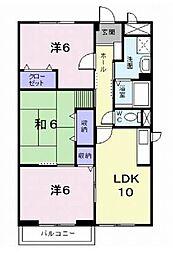 愛媛県松山市和泉南1丁目の賃貸アパートの間取り
