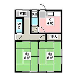 [一戸建] 岐阜県大垣市中川町2丁目 の賃貸【/】の間取り