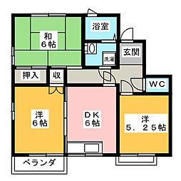 成沢コーポ[1階]の間取り