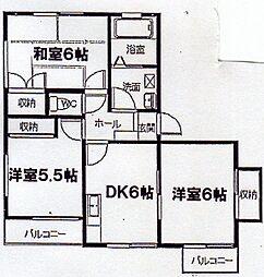 神奈川県横浜市金沢区富岡東3丁目の賃貸マンションの間取り
