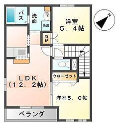 ノーブル・ファイン・アクア[2階]の間取り