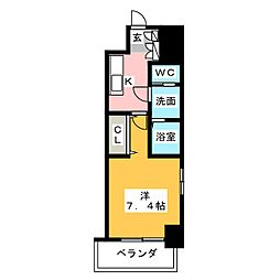 S-RESIDENCE名駅南 6階1Kの間取り
