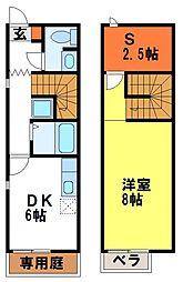 エトワールド/フォンティーヌド岡田[111号室]の間取り