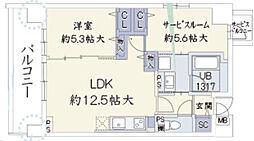 ウッドリバー新大阪[6階]の間取り