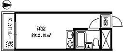 日興パレセゾン新宿[207号室]の間取り