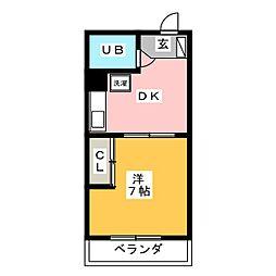 ロイヤルマンションヨコチ[2階]の間取り