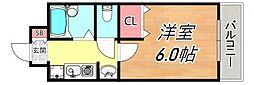 ステラハウス12[1階]の間取り