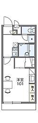 レオパレス藍[2階]の間取り