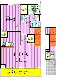 千葉県松戸市五香8丁目の賃貸アパートの間取り