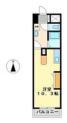 愛知県名古屋市中村区中島町4の賃貸マンションの間取り