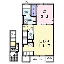 JR横浜線 町田駅 バス9分 養運寺下車 徒歩2分の賃貸アパート 2階1LDKの間取り