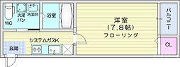 JR仙山線 東照宮駅 徒歩13分の賃貸アパート 3階1Kの間取り