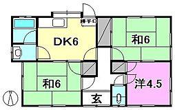 [一戸建] 愛媛県松山市中須賀2丁目 の賃貸【/】の間取り