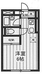 東京都品川区南品川6丁目の賃貸アパートの間取り