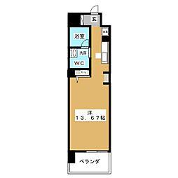 カスタリア伏見[3階]の間取り