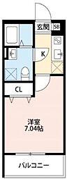 ボヌール深江橋[2階]の間取り