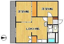 野中第3マンション[1階]の間取り