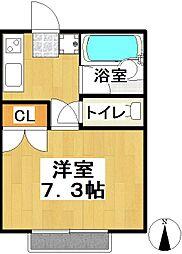 育栄荘[B108号室]の間取り