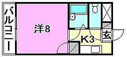 ロータスハイツ[507 号室号室]の間取り